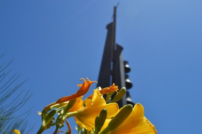 BCC Bell Tower with Flowers