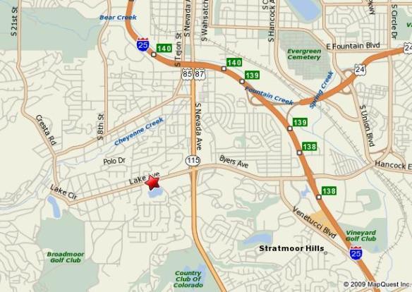 Map of Broadmoor Community Church